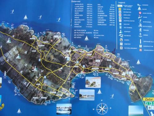 Vir sziget térképe